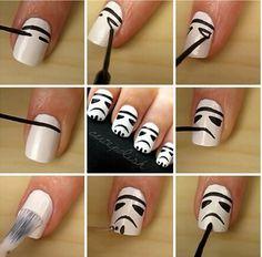 Storm trooper nail art
