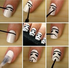 Storm trooper nail art
