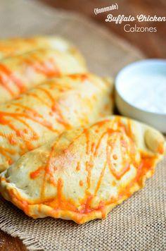 Homemade Buffalo Chicken Calzones  willcookforsmiles.com #buffalochicken #calzones