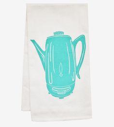 Coffee Percolator Kitchen Towel by artgoodies on Scoutmob