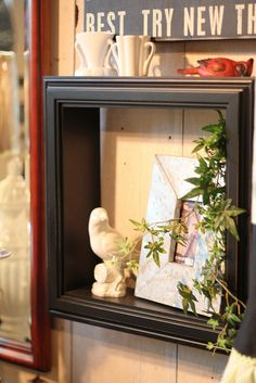 frames (no info) - buy deep frames at craft store - remove glass and backing to use as display box