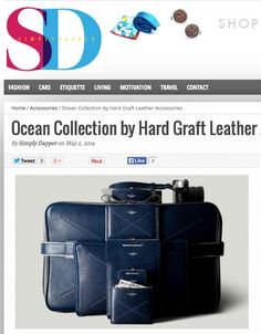 """Hard Graft accessories brings out a new collection of leather goods called """"Ocean"""" blue. The entire range features a striking blue hue which is perfect for the new season. Made of premium vegetable tanned Italian grain hide, these accessories feature a unique finish."""