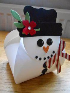 Snowman curvy keepsake box - Linda's Craft Room