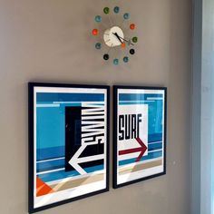 This is one half of the two poster version of our Swim or Surf poster, It's designed to be paired with the Surf That Way poster, but also works well just by itself. I've always loved the ubiquitous si Decision, Us Swimming, Time Stood Still, California Beach, Beach Town, Beach Art, That Way, Home Goods, Original Art