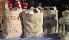 Zip Code Wedding Welcome Bags- Beach & Nautical