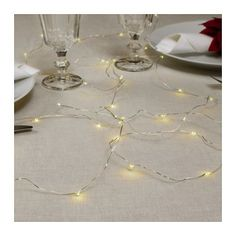 IKEA STRÅLA LED lighting chain with 40 lights Mini The LED light source consumes up to 85% less energy and lasts 10 times longer than incandescent bulbs.