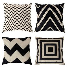4 Types 45*45cm Vintage Fashion Cotton Linen Cushion Cover Throw Pillow Case Free Shipping