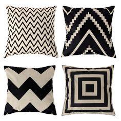 4 tipos de 45 * 45 cm do Vintage da moda Cotton Linen capa de almofada lance fronha frete grátis