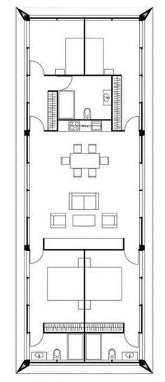 Plano casa cubo 488 530 planos pinterest for Casa moderna 6x6
