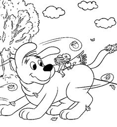 clifford preschool coloring pages - photo#7