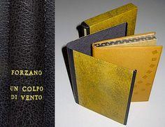 1994 – Forzano, Un colpo di vento   by Cristina Balbiano d'Aramengo. French leather binding, decoration in bas relief