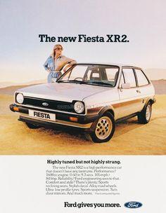 Ford Fiesta XR2 Ford Fiesta Xr2, Classic Trucks, Classic Cars, Mk1, Car Brochure, Ford Lincoln Mercury, Old Fords, Car Posters, Car Advertising