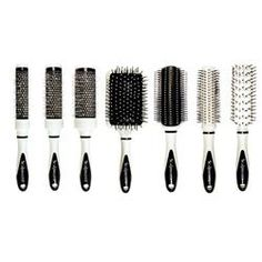 SCALPMASTER - THE WHITE TUX COLLECTION 7 PIECE CERAMIC BRUSH SET IN CARRYING CASE