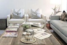 Love the couch, oversize coffee table, great end tables (Jesse's Modern Bachelor Pad-Apartment Therapy)