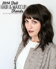 2014 Fall Hair and Makeup Trends on www.girllovesglam.com #InspireFallFashion #PMedia #ad