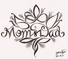 mom and dad tattoos | Valentine's Day: Mom and Dad by ~rper782786 on deviantART
