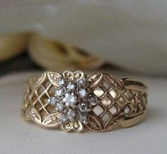 gorgeous!  Vintage French design diamond ring