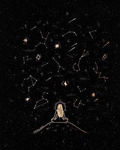 7 Arts, Moon Art, Galaxy Wallpaper, Constellations, Astronomy, Aesthetic Wallpapers, Line Art, Art Drawings, Illustration Art