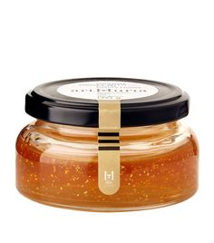 Art Muria Orange and Gold Leaf Honey Food Packaging Design, Packaging Design Inspiration, Brand Packaging, Honey Bottles, Bottles And Jars, Honey Packaging, Bottle Packaging, Honey Label, Farmers Market Recipes