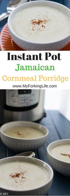 This Instant Pot Jamaican cornmeal porridge is an easy and delicious way to eat breakfast in the morning. Enjoy this hands free way to prepare breakfast. Jamaican Breakfast, Eat Breakfast, Healthy Breakfast Recipes, Free Breakfast, Breakfast Ideas, Second Breakfast, Healthy Snacks, Jamaican Cuisine, Jamaican Dishes