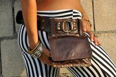 Cinturon de Cuero con bolsa separable KIPPY por ELLKO en Etsy