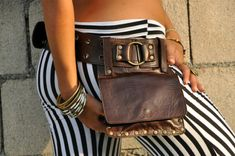So many awesome hip bags. I want to learn how to make these.  Genuine Leather Hip Bag from Ellko KIPPY by ELLKO on Etsy, $135.00