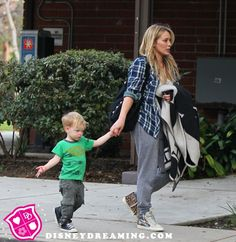 Hilary Duff goes for a walk after she announces her divorce.