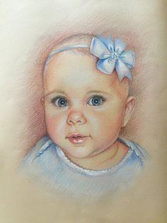 12x16 Custom portrait baby Portrait gift  pencil от ArtOdarka