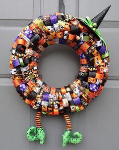 Halloween Witch Ribbon 14' Wreath