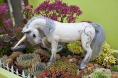 needle felted unicorn