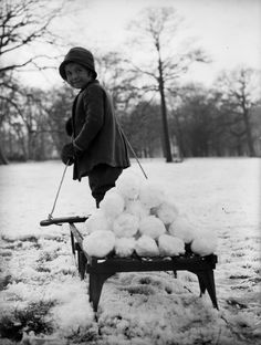 Vintage Pictures, Old Pictures, Old Photos, Vintage Sled, Vintage Winter, Vintage Christmas Photos, Snowball Fight, Frozen In Time, Vintage London