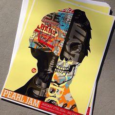 Vinyl Pulse: Tristan Eaton -- Pearl Jam Poster Drop (1.24)