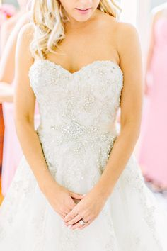 sparkly beaded wedding gown | Kelly Dillon