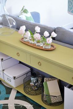 sarah m. dorsey designs: Sofa Table Happiness! DIY directions on how to build