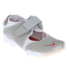 Nike Air Rifts - most comfortable running shoes EVER! Or just for walking! Large toe box which is unusual in Nike shoes.