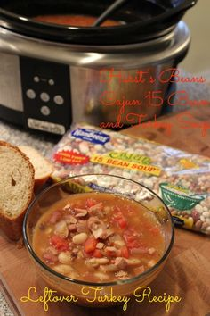 Leftover Turkey Recipe Hurst's Beans Cajun 15 Bean Turkey Soup @Basilmomma