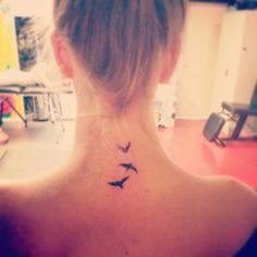 Take your freedom. Finally got my beautiful birds tattoo