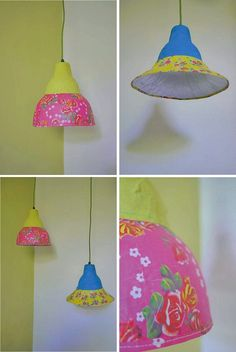 Lámparas de papel maché / Papier maché lamps