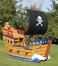 Pirate Ship Play House Design Adding Fun to Kids Backyard Ideas: