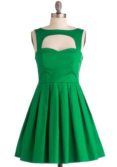 green cut out dress   Green Cut-Out Dress   My Style