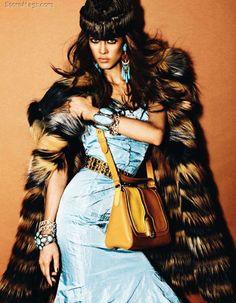 Exotically Opulent Editorials : Aymeline Valade for Vogue Japan December 2011