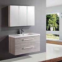 Lind luxury 120 grå baderomsmøbel m/enkel servant - MegaFlis.no Vanity, Luxury, Google, Bathroom Ideas, Rooms, Beautiful, Kitchens, Modern, Dressing Tables