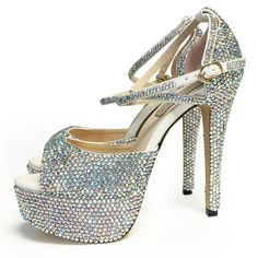 "Marc Defang 6"" heels 2"" Platforms Peep Toe Strappy Pumps - MARC DEFANG NEW YORK"