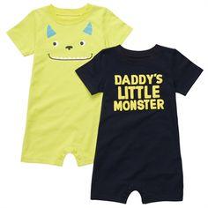 Carter's® Infant Boy 2-Pack Monster Rompers #VonMaur
