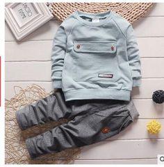 2016 novas roupas de bebê crianças ternos 0-3 Big bag + calças crianças agasalho meninos e meninas roupas definir roupa dos miúdos