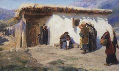 «Привели детей»1890-1900-еХолст, масло32 × 56Самарский художественный музей