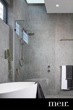 Modern Bathroom Tile, Concrete Bathroom, Bathroom Tile Designs, Bathroom Design Luxury, Bathroom Layout, Modern Bathroom Design, Bathroom Wall Tiles, Grey Marble Bathroom, Slate Bathroom