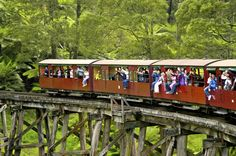 Puffing Billy Steam Train Dandenong Ranges National Park in Belgrave, VIC