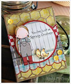 PI Farmer Girl Card - peek through card front