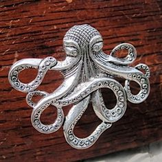 Octopus Drawer Knobs - Furniture Knobs in Silver